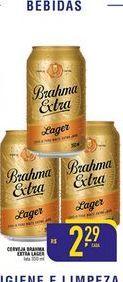 Oferta de Cerveja Brahma extra lager Lata 350 ml por R$2,29