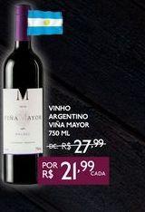 Oferta de VINHO ARGENTINO VIÑA MAYOR 750 ML por R$21,99