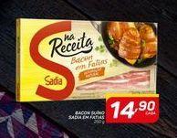 Oferta de Bacon suino Sadia em fatias 250 g por R$14,9