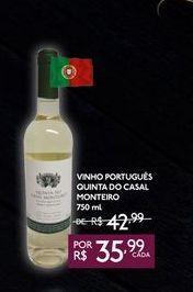 Oferta de VINHO PORTUGUES QUINTA DO CASAL MONTEIRO 750 ML por R$35,99