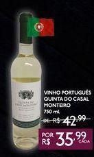 Oferta de VINHO PORTUGUÊS QUINTA DO CASAL MONTEIRO 750 ml por R$35,99