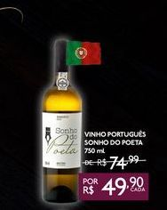 Oferta de VINHO PORTUGUÊS SONHO DO POETA 750 ml por R$49,9