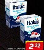 Oferta de CREME DE LEITE ITALAC tetra 200 g por R$2,39