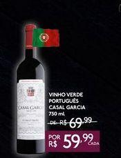 Oferta de VINHO VERDE PORTUGUÊS CASAL GARCIA 750 ml por R$59,99