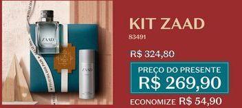 Oferta de Kit Zaad por R$269,9