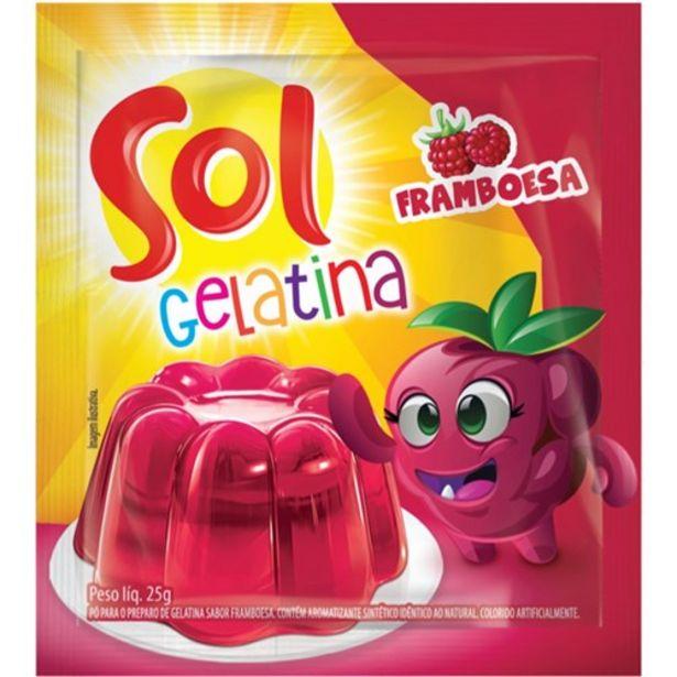 Oferta de Gelatina Sol Framboesa 25G por R$1,09