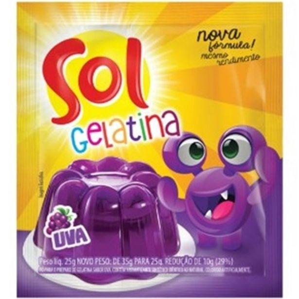 Oferta de Gelatina Sol Uva 25G por R$1,09
