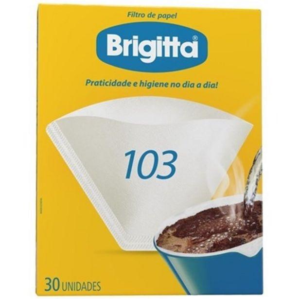 Oferta de Filtro de Papel Brigitta 103 30Un por R$2,99
