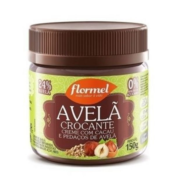 Oferta de Creme de Avelã Flormel Zero Crocante Pote 150G por R$18,9