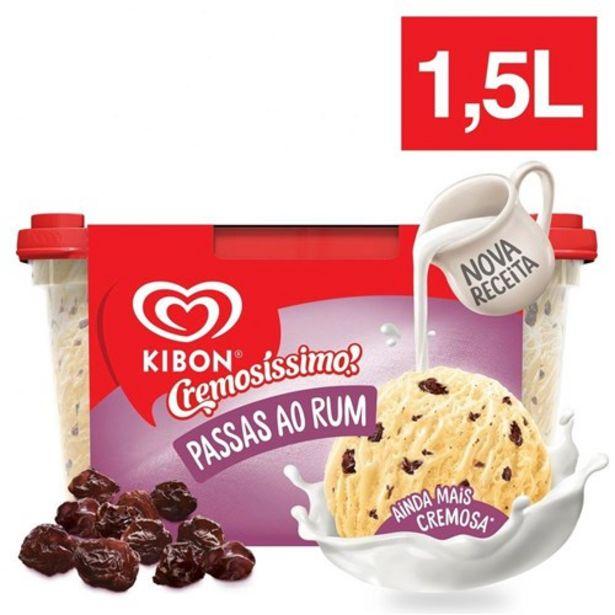 Oferta de Sorvete Kibon Passas Ao Rum 1,5L por R$19,71