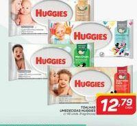 Oferta de Toalhas umedecidas Huggies c/ 48 unidades por R$12,79