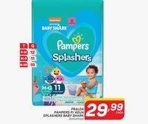 Oferta de Fraldas Pampers para agua splashers baby shrak por R$29,99