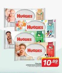 Oferta de Toalhas umedecidas Huggies c/ 48 unidades por R$10,89