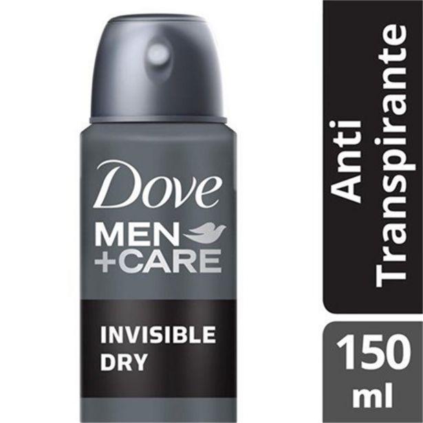 Oferta de Desodorante Antitranspirante Aerosol Dove Invisible 150Ml por R$10,9