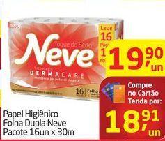 Oferta de Papel Higiênico Folha Dupla Neve  por R$18,91
