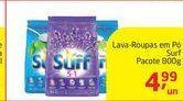 Oferta de Lava-Roupas em Pó Surf Pacote 800g por R$4,99