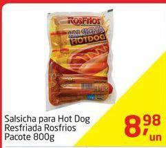 Oferta de Salsicha para Hot Dog Resfriada Rosfrios Pacote 800g por R$8,98