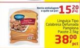Oferta de Linguiça Tipo Calabresa Defumada Pamplona Pacote 2,5kg por R$38