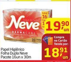 Oferta de Papel Higiênico Folha Dupla Neve Pacote 16un x 30m  por R$18,91