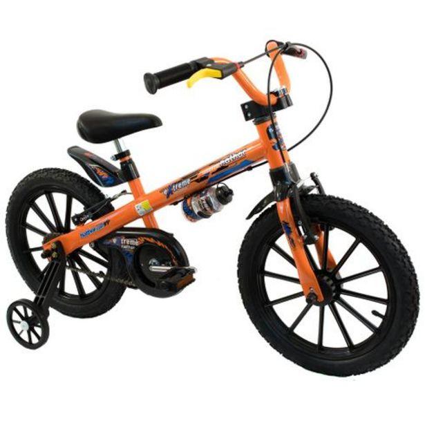 Oferta de Bicicleta infantil aro 16 extreme Nathor por R$579,99