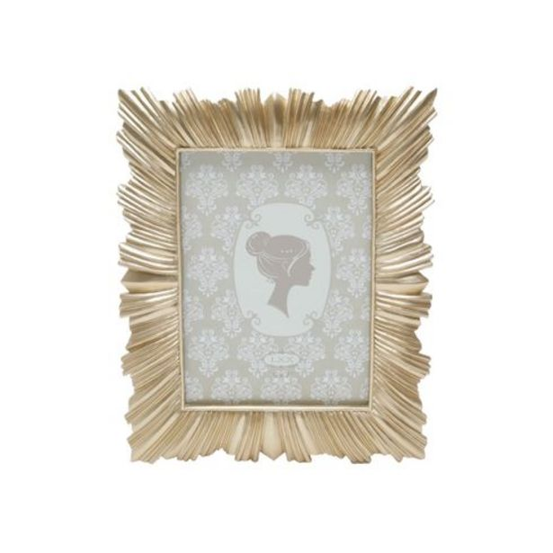 Oferta de Porta retrato resina dourado 13x18cm Royal por R$79,99