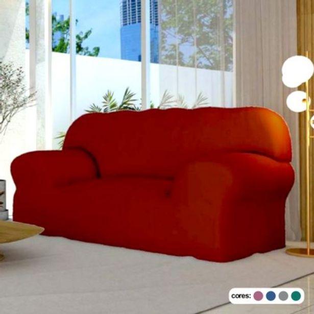 Oferta de Capa para sofá 3 lugares lisa coladinha sortidas Roume por R$59,99