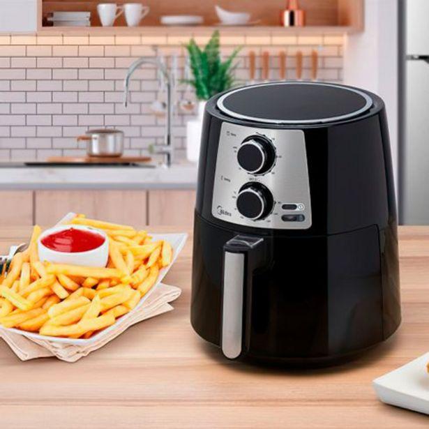 Oferta de Fritadeira elétrica - airfryer sem óleo 3,5 litros preta Midea por R$477,99