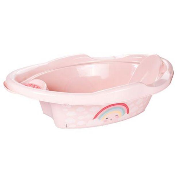 Oferta de Banheira plástica infantil arco-íris 21 litros Plasútil por R$72,99
