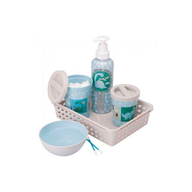 Oferta de Kit higiene Dino 5 peças Plasútil por R$52,99