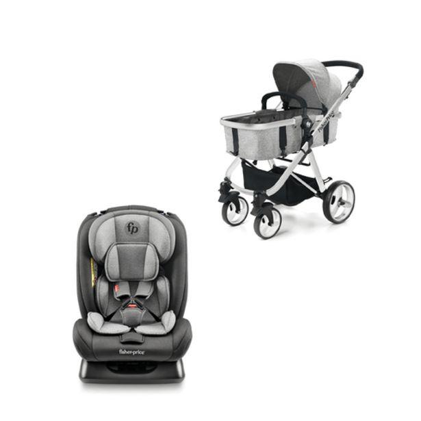 Oferta de Combo Passeio - Cadeira para Auto Mass 0-36Kgs e Carrinho de Bebê Berço com Moisés Hero TS Até 15Kg Cinza Fisher-Price - BB331K por R$735,99