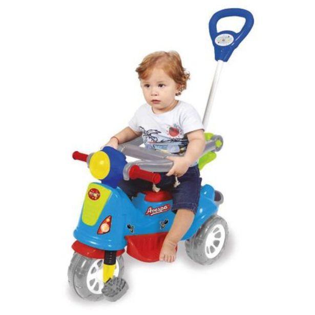 Oferta de Triciclo infantil avespa colorido de plástico Maral por R$264,99