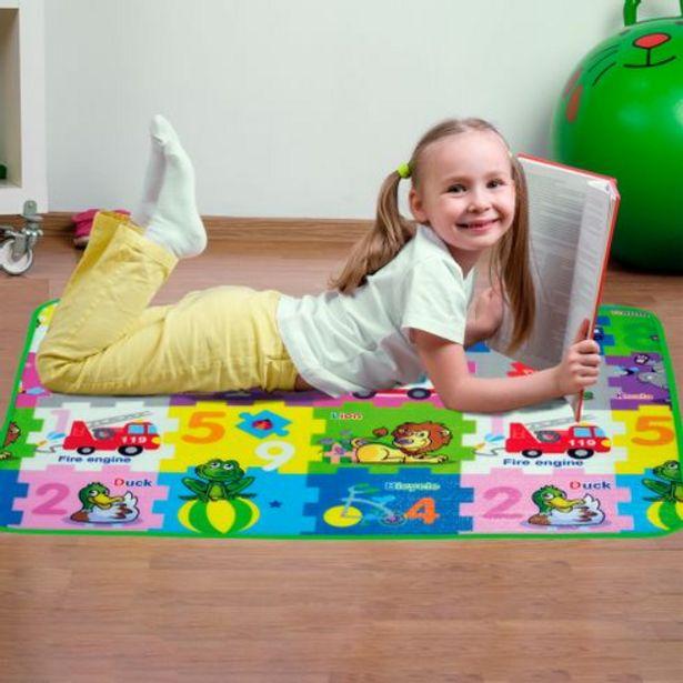 Oferta de Tapete infantil com base em isolante térmico 90x120cm DCasa por R$34,99