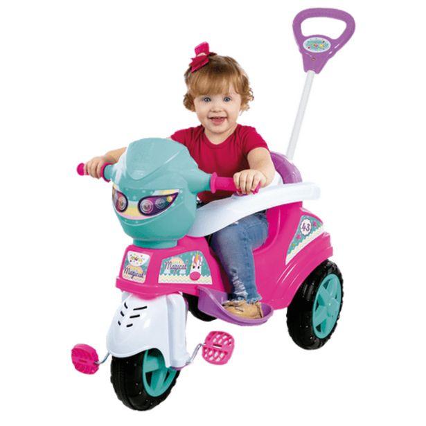 Oferta de Triciclo baby city menina Maral por R$349,99