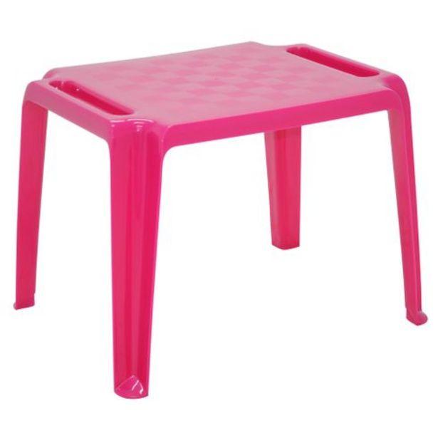 Oferta de Mesa infantil plástica rosa D. Chica Tramontina por R$99,99