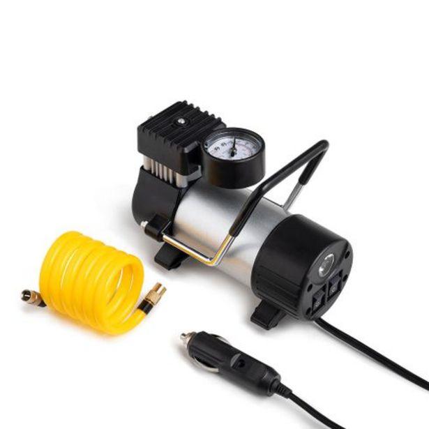 Oferta de Compressor de Ar Automotivo 12V Cilindro Metálico 25L/min 150 PSI com Bicos e Lanterna Integrada Preto Multilaser - AU616 por R$156,9