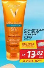 Oferta de Protetor solar idéal soleil Vichy soft FPS 50 200 ml por R$13,82