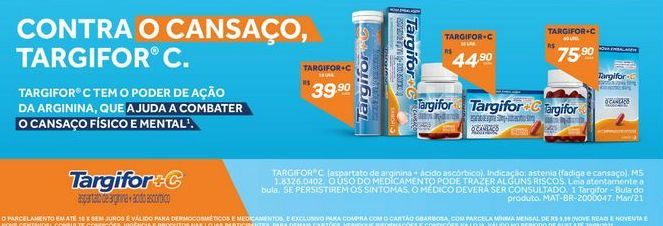 Oferta de Vitaminas Targifor + C por