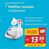 Oferta de Nebplus inalador compressor por R$13,99