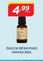 Oferta de Óleo de ricino puro farmax 30 ml por R$4,99