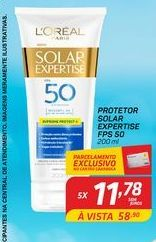 Oferta de Protetor solar L'Oréal expertise FPS 50 200 ml por R$11,78