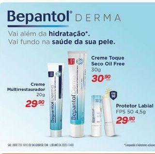 Oferta de Creme hidratante Bepantol derma por