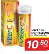 Oferta de Vitaminas Viter C 1g efervescente 10 comprimidos por R$10,5