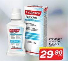 Oferta de Enxágue bucal Colgate periogard sem alcool por R$29,9