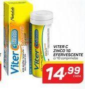 Oferta de Vitaminas Viter C zinco 1g efervescente por R$14,99