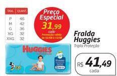 Oferta de Fralda Huggies por R$31,99