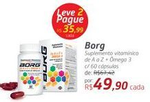 Oferta de Suplemento Vitaminico Borg por R$49,9
