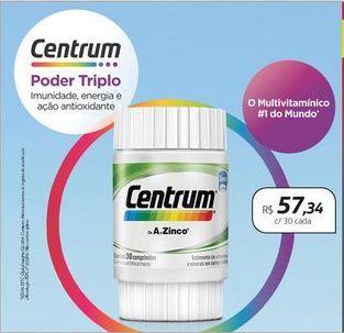 Oferta de Centrum Multivitaminico por R$57,34