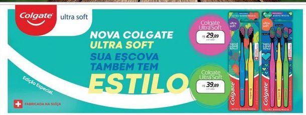 Oferta de Escova dental Colgate Ultra Soft por R$29,89