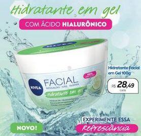 Oferta de Hidratante Facial em Gel com ácido Hialurônico por R$28,49