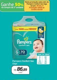 Oferta de Pampers Confort Sec Giga por R$86,89